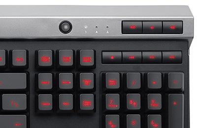 Teclado Gaming Raptor K30 LED Vermelho (Português BR) CH-9000043-BR - Corsair