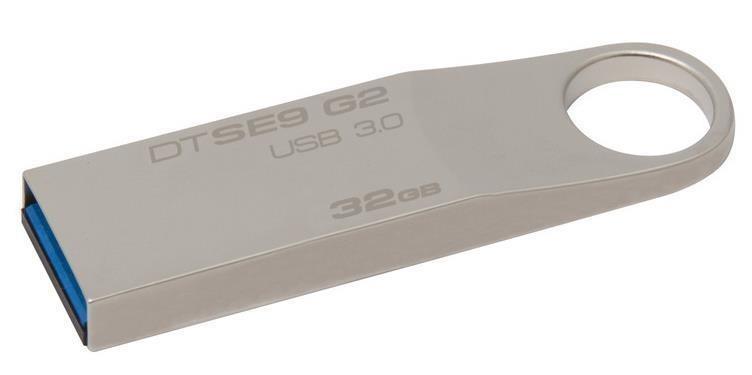 Pen Drive Datatraveler 32GB USB 3.0 Prata DTSE9G2/32GB - kingston