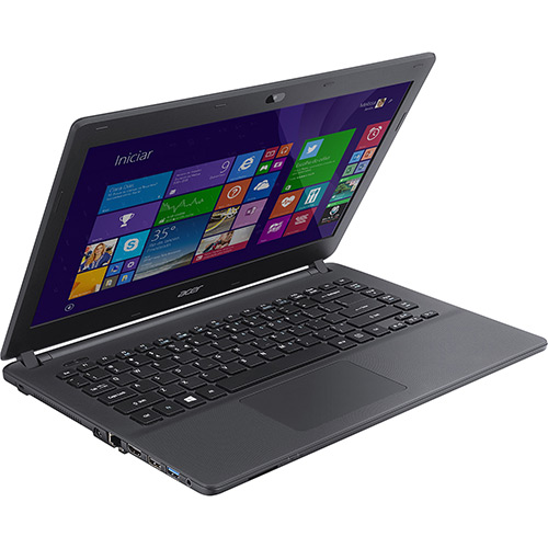 Notebook ES1-411-C8FA Intel Quad Core 4GB 500GB Tela LED 14 HDMI/USB 3.0/Bluetooth Windows 8.1 Preto - Acer