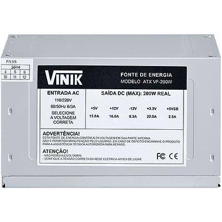 Fonte ATX 200W VF200W 22096 - Vinik