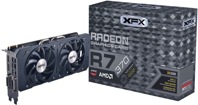 Placa de Vídeo R7 370 2GB DDR5 Double Dissipation 256Bit R7-370P-2DB5 - XFX