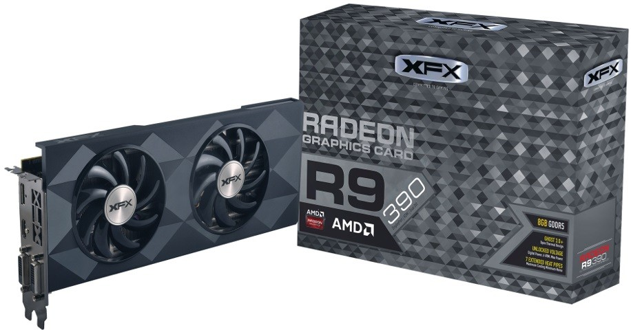 Placa de Vídeo R9 390 8GB DDR5 Double Dissipation 512Bit R9-390P-8DF6 - XFX