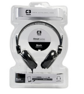 Headphone Noir MI-2322 RB Preto - C3tech