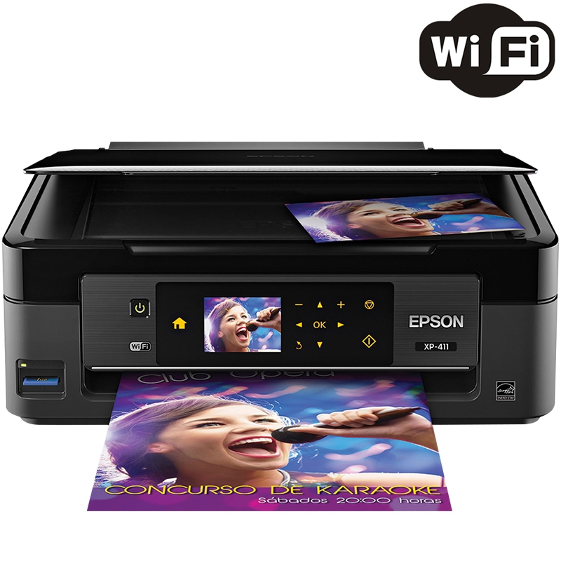 Multifuncional Jato de Tinta Colorida Wireless XP-411 - Epson
