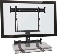 Suporte para TV 19 a 40 com suporte para DVD integrado STPF-66 - Multivisão