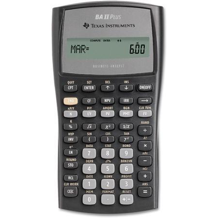Calculadora Financeira BA II Plus  TIIIBAPLCLM - Texas Instruments