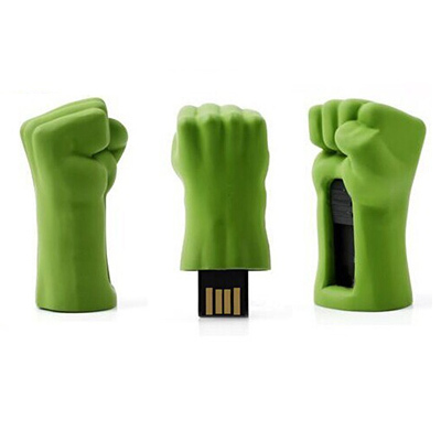 Pen Drive 8GB Hulk Punho (Retrátil) - OEM