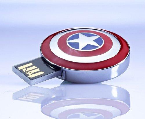 Pen Drive 8GB Escudo do Capitão América (Retrátil) - OEM