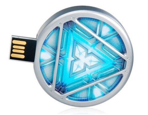 Pen Drive 8GB Homem de Ferro Reator de Energia (Retrátil) - OEM