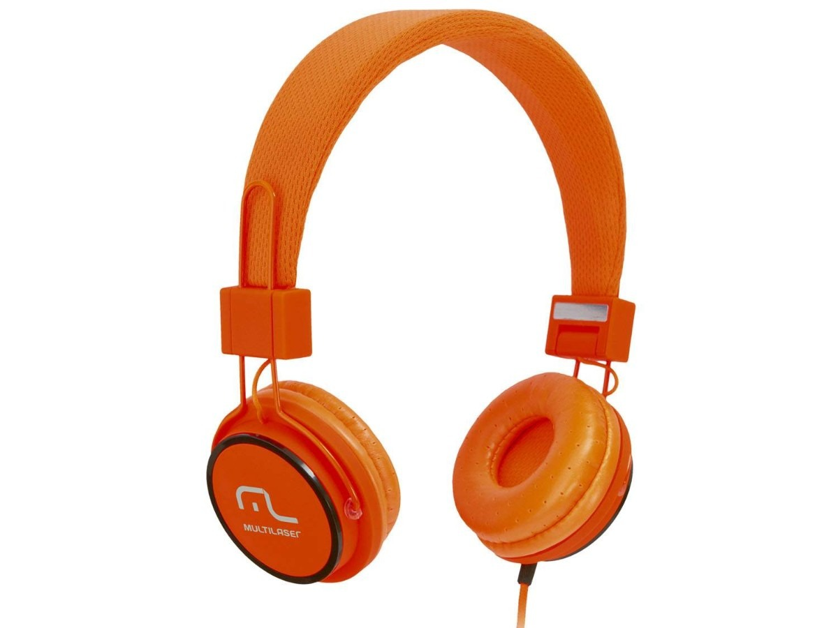 Fone Headphone Laranja PH086 - Multilaser