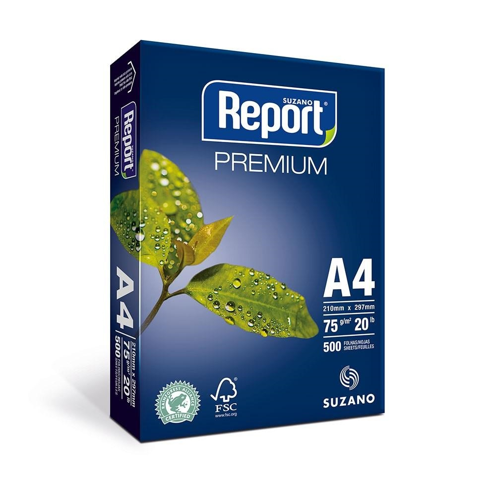 Papel Sulfite A4 Report Premium 75gr 210x297 C/500 Folhas - Suzano