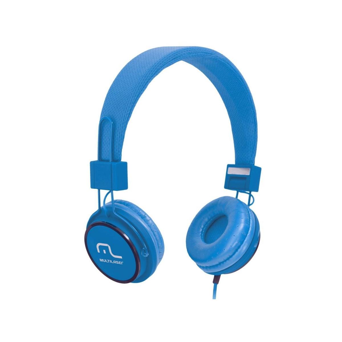 Fone HeadFun - Microfone para Celular Azul PH089 - Multilaser