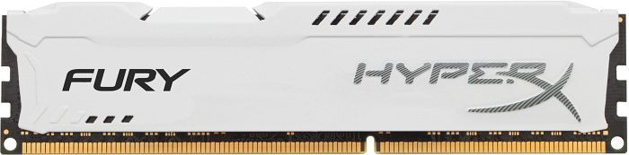 Memória HyperX Fury 4GB 1600Mhz DDR3 CL10 Dim White HX316C10FW/4 - Kingston