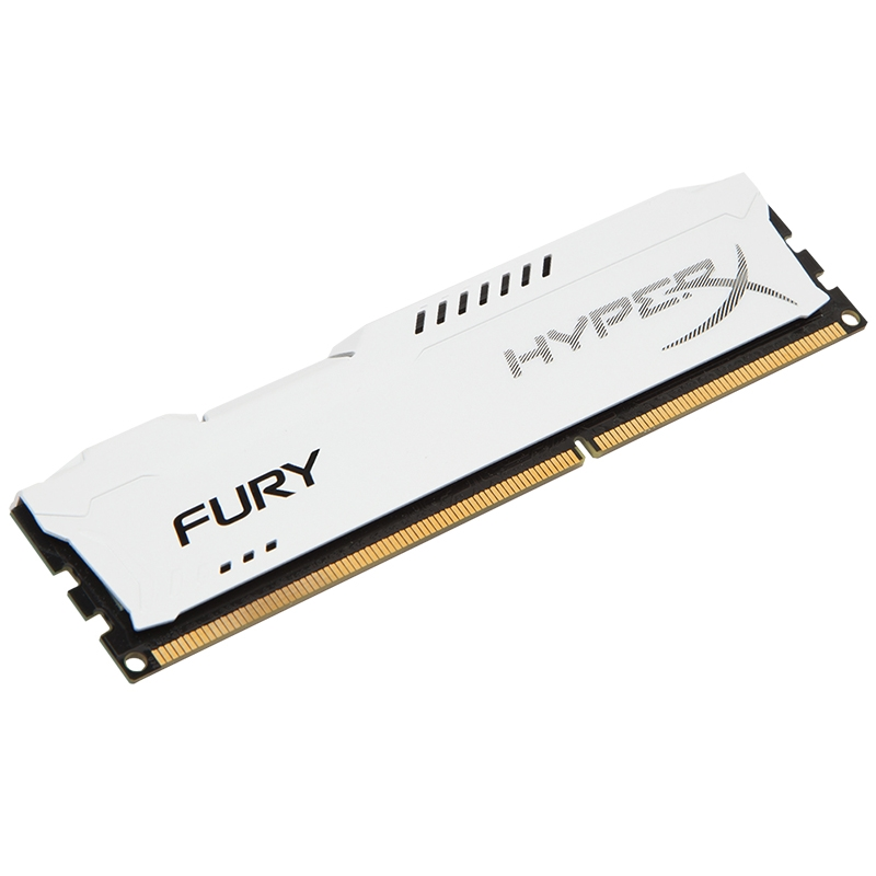 Memória HyperX Fury 8GB 1333Mhz DDR3 CL9 Dim White HX313C9FW/8 - Kingston