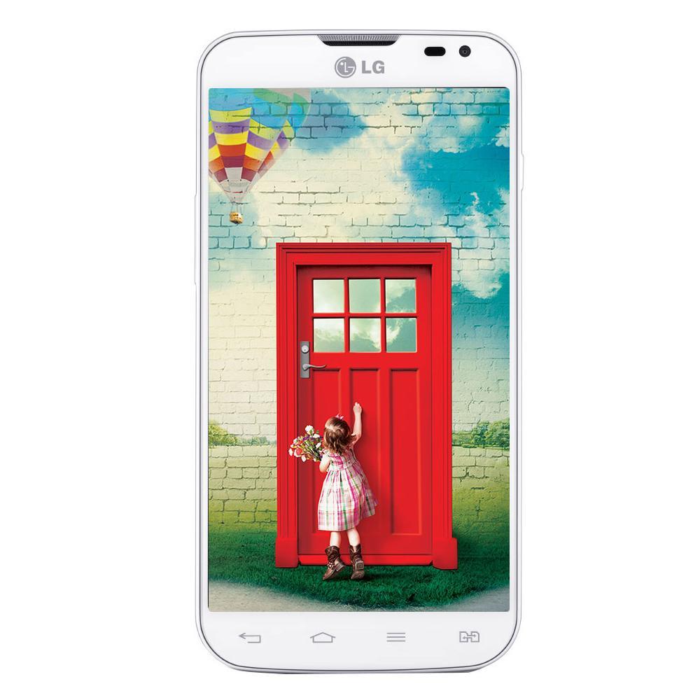 Smartphone Desbloqueado LG L70 Dual D325 Branco Android 4.4, Tela 4,5 , Camera 8MP, Dual Core 1.2HGz, Wi-Fi, 3G e GPS