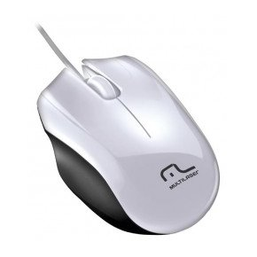 Mouse Precision USB MO217 Branco e Preto - Multilaser