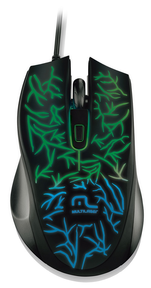 Mouse Gamer Fusion Led 1000dpi USB MO227 - Multilaser