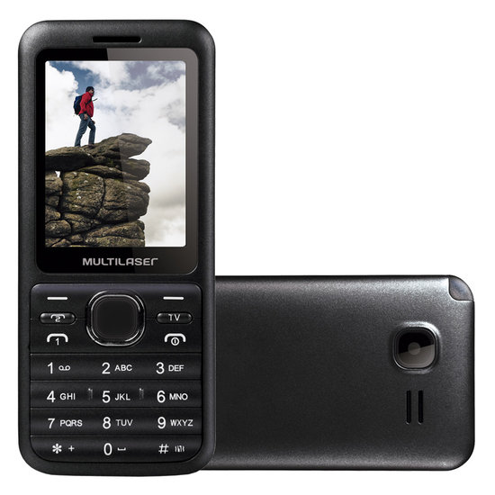 Celular Dual Chip View Bluetooh Com FM, TV P3266 - Multilaser