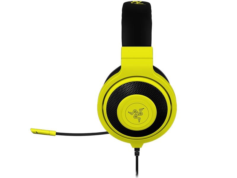 Fone de Ouvido com Microfone Kraken Pro Neon Amarelo RZ04-00871000-R3M1 - Razer