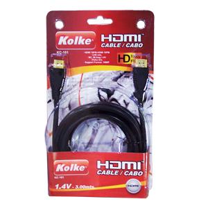 Cabo HDMI Com Filtro Preto 1.4V 3 Metros KC-109 - Kolke