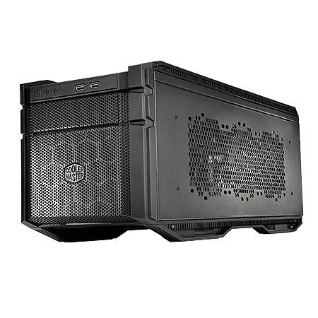 Gabinete Mini-ITX HAF Stacker 915F Preto HAF-915F-KKN1 (Fonte Frontal - não inclusa) Coolermaster