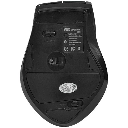 Mouse Bluetooth 1600DPI B100 Preto - Vinik