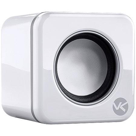 Caixa de Som 2.0 USB 6W RMS (2x3W) VS-101 Branca 17352 - Vinik