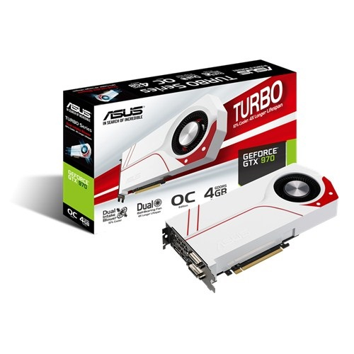Placa de Vídeo Nvidia GTX 970 Overclock Edition 4GB GDDR5 256Bits TURBO-GTX970-OC-4GD5 - Asus
