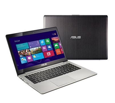SALDÃO Notebook Ultrafino Intel Core I5, 4GB, HD 500GB, Tela 14, Windows 8, Preto S400CA-CA178H - Asus