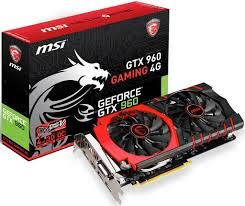 Placa de Vídeo Geforce GTX960 Gaming 4GB DDR5 - MSI