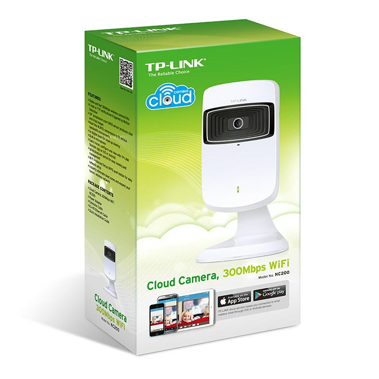 C�mera de Vigil�ncia Cloud Wireless 300Mbps NC200 - Tplink