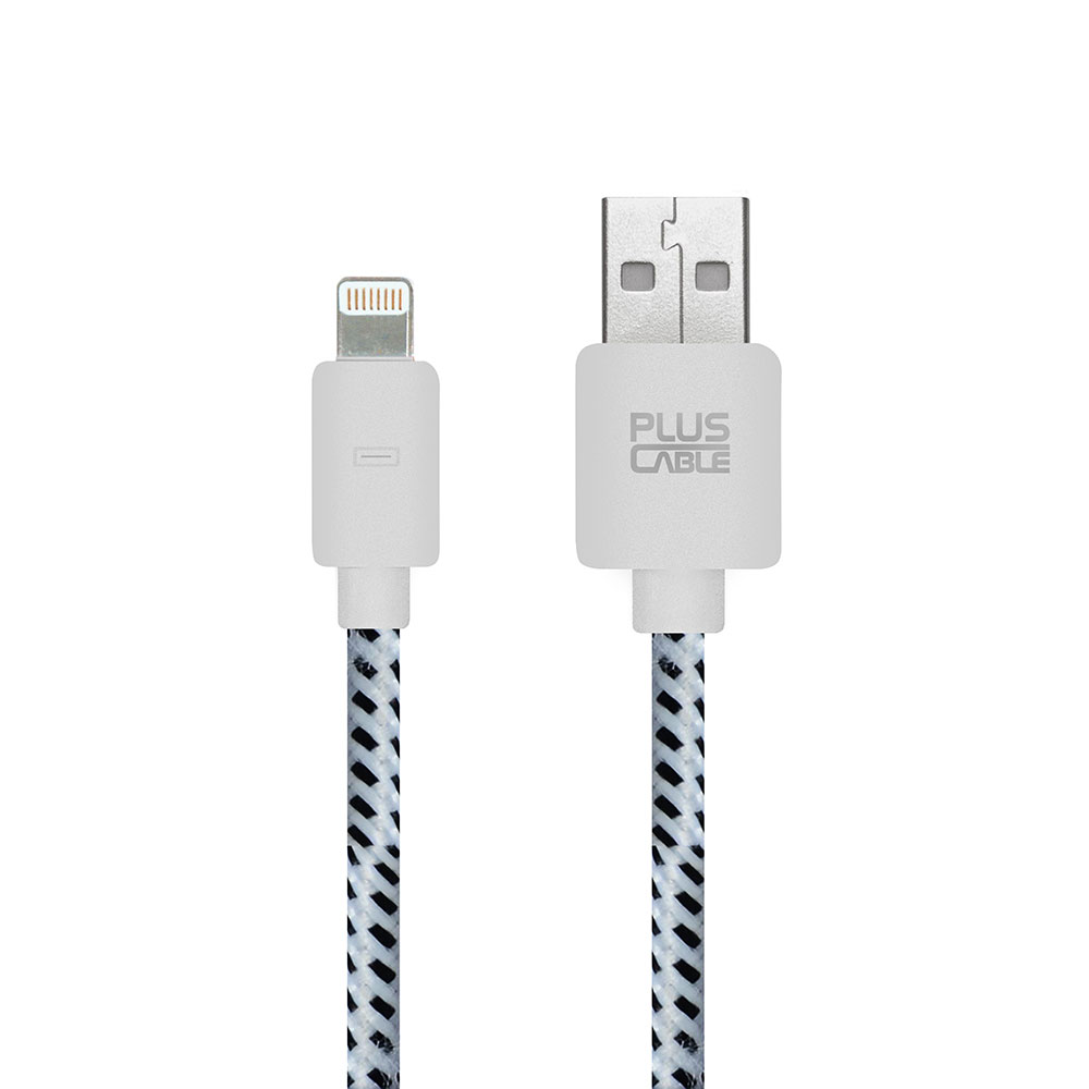 Cabo Micro USB Phone 5/6 LT- LT1002WH 1.0M Branco nylon 258636 - Pluscable