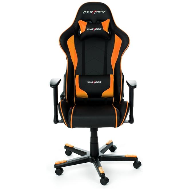 Cadeira F-Series OH/FE08/NO Preto/Laranja - DXRacer