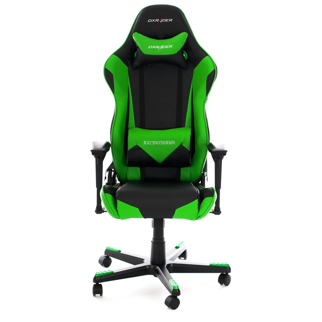 Cadeira R-Series OH/RF0/NE Preto/Verde - DXRacer