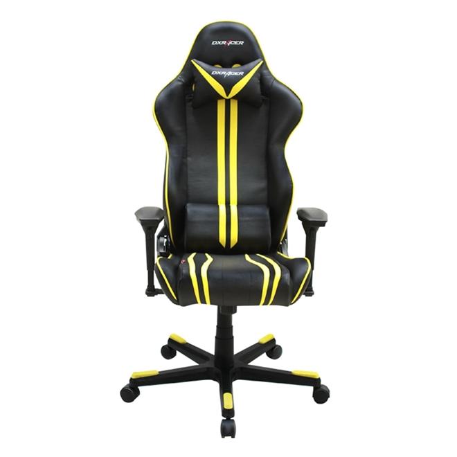 Cadeira R-Series OH/RF9/NY Preto/Amarelo - DXRacer