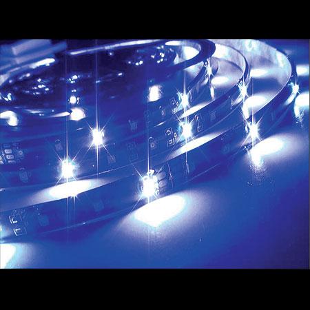 Fita LED Azul 5M Tamanho dos LEDs 3528 - 60 LEDs por Metro com Silicone e Fita Dupla Face - Alltech