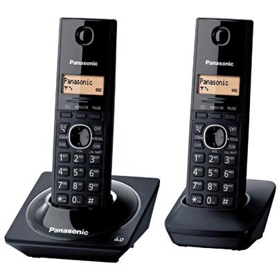 Telefone Sem Fio DECT 6.0 C/ID + Ramal Preto KX-TG1712LB Preto - Panasonic
