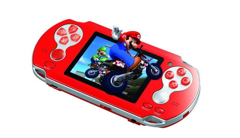 Video Game Portatil New Station Mais de Mil jogos Saida para TV Cor Laranja
