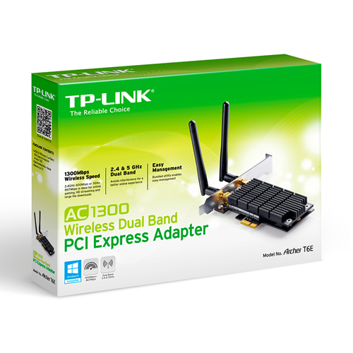 Placa de Rede Archer T6E Wireless Dual Band AC1300 - Tplink