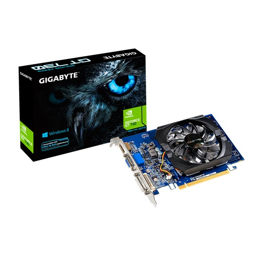 Placa de Vídeo Geforce GT730 1GB DDR3 GV-N730D3-1GI - Gigabyte