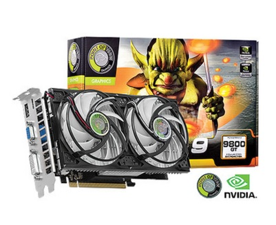 Placa de Vídeo Geforce GT9800 Dual Fan 1GB DDR3 256Bits R-VGA150913G-2 - Point Of View