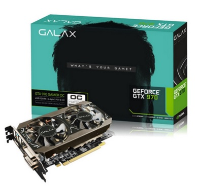 Placa de V�deo GeForce GTX 970 Gamer OC 4GB DDR5 256-Bit 97NPH6DT8RVZ - Galax