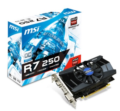 Placa de Vídeo R7 250 2GB DDR3 128Bits OC (R7 250 2GD3 OC) - MSI