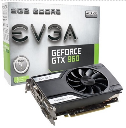 Placa de Vídeo Geforce GTX960 2GB DDR5 128Bits 02G-P4-2961-KR - EVGA
