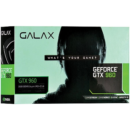Placa de Vídeo Geforce GTX960 2GB 128Bits DDR5 96NPH8DND7UZ - Galax