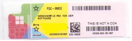Chave de Instalação Windows 10 Pro 64Bits Português FQC-08932 OEM - Microsoft