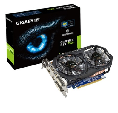 Placa de Vídeo Geforce GTX750 Ti OC 2GB DDR5 128Bits GV-N75TOC2-2GI - Gigabyte