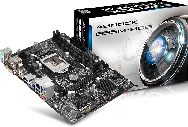 Placa Mãe LGA 1150 B85M-HDS (S/V/R) 90-MXGQG0-A0UAYZ - AS-ROCK