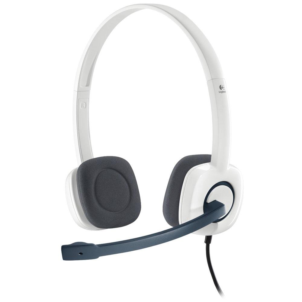 Fone de Ouvido Stereo H150 Cloud White - Logitech