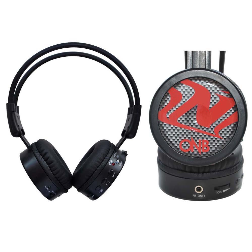 Fone Multimidia SD MP3 FM Sem Fio Vermelho ONB-M80V - Onbongo